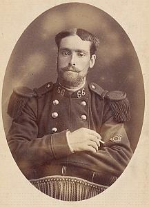 Soldier Lerouff Military Army France Old CDV Photo 1900