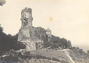 Tournoel Castle Puy de Dome France Old Photo 1920 Later Print