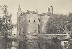 Bruges Sainte Croix Door Canal Belgium Old Photo 1920 Later Print