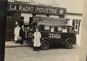 TV Television Shop Truck Publicity France Photo 1950