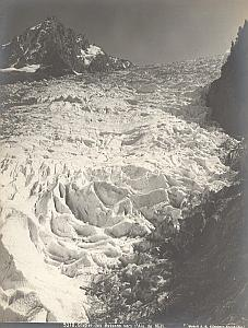 Mountain Bossons Glacier France Alps Old Photo 1900