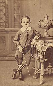 Young Boy Toys Fashion Argentina Old Photo 1900