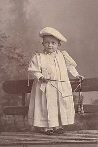Young Boy Skipping Rope Toys Fashion France Old Photo 1900
