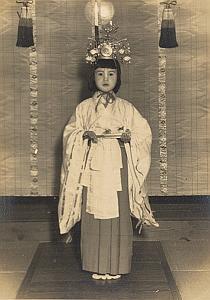 Young Girl Ceremony Japan Fashion Daijin Matsuri Akiyama Photo 1950