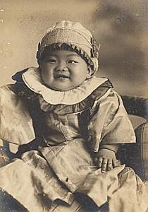 Young Baby Japan Fashion Old Photo Shimizu 1920