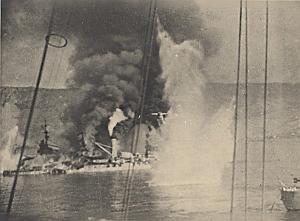 WWII Battleship Mers el Kebir Bretagne Photo 1940