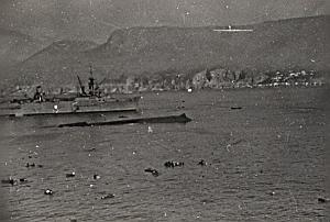 WWII Battleship Mers el Kebir Sunken Bretagne Photo 1940
