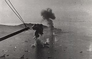 WWII Battleship Mers el Kebir Shelling Port Photo 1940