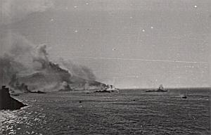 WWII Battleship Mers el Kebir Shelling Port Photo 1940
