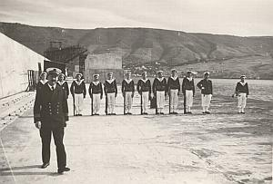 WWII Battleship Mers el Kebir Death Ceremony Photo 1940