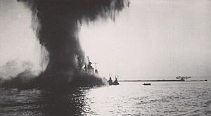 WWII Battleship Mers el Kebir Dunkerque Bomb Photo 1940