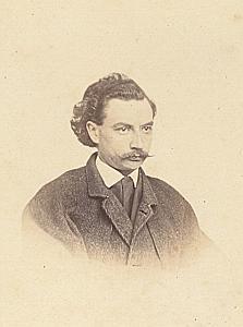 Pasteur Alfred Ceresole Lausanne Protestantisme Ancienne CDV Photo Autographe 1860