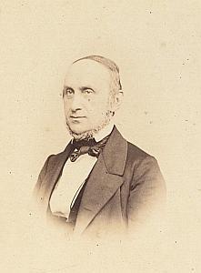 Pasteur Samuel Chappuis Lausanne Protestantisme Ancienne CDV Photo Autographe 1860