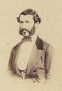 Ingenieur Jules Gaulis Lausanne Protestantisme Ancienne CDV Photo Autographe 1860