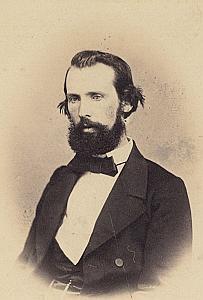 Pasteur Charles Vulliemin Lausanne Protestantisme Ancienne CDV Photo Autographe 1860