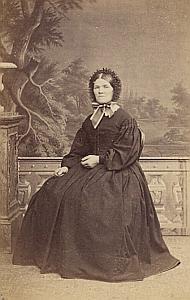 Marie Hartmann Cerlier Lausanne Protestantisme Ancienne CDV Photo Autographe 1860