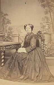 Aline Chappuis Lausanne Protestantisme Ancienne CDV Photo Autographe 1860