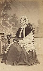 Madame Eppelein Lausanne Protestantisme Ancienne CDV Photo Autographe 1860