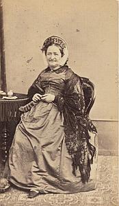 Madame Rittener Lausanne Protestantisme Ancienne CDV Photo Autographe 1860