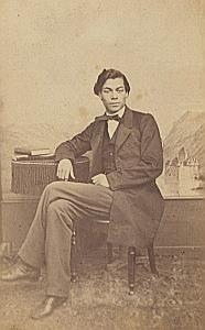 Pierre Fuster Lausanne Protestantisme Ancienne CDV Photo Autographe 1860