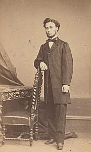 Auguste Alzas Lausanne Protestantisme Ancienne CDV Photo Autographe 1860