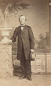 Favre Naef à Yverdon Lausanne Protestantisme Ancienne CDV Photo Autographe 1860