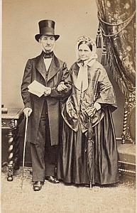 Leyvraz Instituteur Lausanne Protestantisme Ancienne CDV Photo Autographe 1860