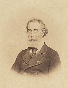 L. de La Cressonniere Lausanne Protestantisme Ancienne CDV Photo Autographe 1860