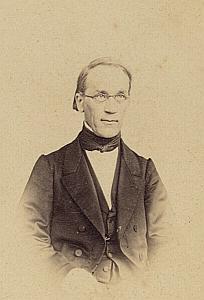 Pasteur A. Reymond Lausanne Protestantisme Ancienne CDV Photo Autographe 1860