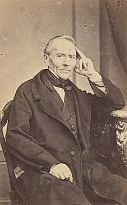 Pasteur Auguste Ceresole Lausanne Protestantisme Ancienne CDV Photo Autographe 1860