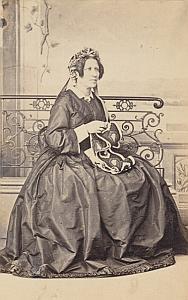 Madame de Felice Lausanne Protestantisme Ancienne CDV Photo Autographe 1860