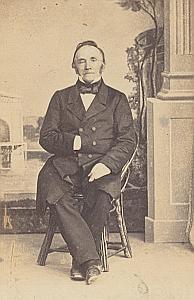 Pasteur Guillaume de Félice Lausanne Protestantisme Ancienne CDV Photo Autographe 1860