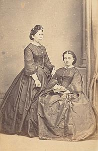 Josephine et Sophie de Félice Lausanne Protestantisme Ancienne CDV Photo Autographe 1860