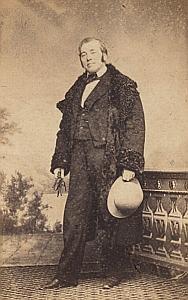 Samson Berdez Lausanne Protestantisme Ancienne CDV Photo Autographe 1860