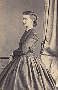 Augusta de Meijerhelm Lausanne Protestantisme Ancienne CDV Photo Autographe 1860