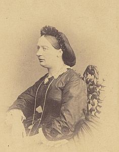 Pauline Gindroz Genève Protestantisme Ancienne CDV Photo Autographe 1860