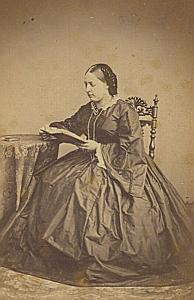 Caroline Gindroz Genève Protestantisme Ancienne CDV Photo Autographe 1860