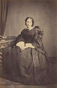 Clara Boves Genève Protestantisme Ancienne CDV Photo Autographe 1860