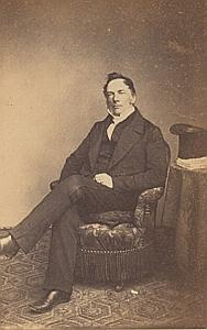 Pasteur Charles Barde Genève Protestantisme Ancienne CDV Photo Autographe 1860
