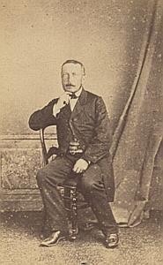 Docteur Jules Cossy Genève Protestantisme Ancienne CDV Photo Autographe 1860