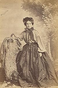 Madame Roque Genève Protestantisme Ancienne CDV Photo Autographe 1860