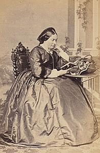 Madame Alexandre Lombard Dimanche Genève Protestantisme Ancienne CDV Photo Autographe 1860