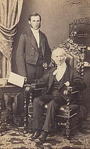Abram François Pettavel Genève Protestantisme Ancienne CDV Photo Autographe 1860