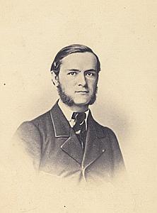 Pasteur Samuel Zeller Suisse Protestantisme Ancienne CDV Photo Autographe 1860