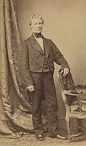 Adolphe de Pourtales Suisse Protestantisme Ancienne CDV Photo Autographe 1860