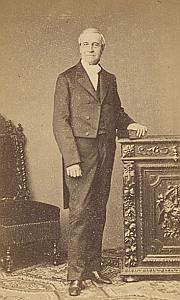 Jean Henri Grandpierre Suisse Protestantisme Ancienne CDV Photo Autographe 1860