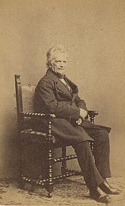 Historien Charles Monnard Suisse Protestantisme Ancienne CDV Photo Autographe 1860