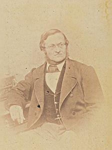 Professeur Christoph Johannes Riggenbach Suisse Protestantisme Ancienne CDV Photo Autographe 1860