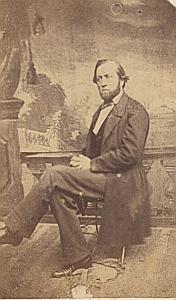Pasteur Alexandre Monnerat Yverdon Suisse Protestantisme Ancienne CDV Photo Autographe 1860