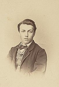 Ferdinand Schuethef Suisse Protestantisme Ancienne CDV Photo Autographe 1860